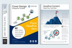 Cover book design template with presentation infographics elements. Cover book design template with presentation infographics elements, Use for annual report vector illustration