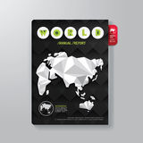 Cover Book Digital Design Minimal Style Template. Royalty Free Stock Photos