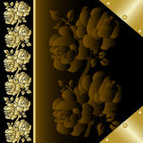Cover of the book with gold rose 2 Stock Photos