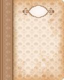 Cover book. Old-fashioned cover book. Vector Stock Photography