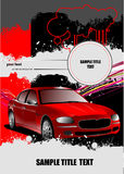 Cover for brochure with car images Royalty Free Stock Image