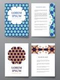 Cover brochure design. Arabic traditional decorative elements. Stock Photo