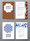 Cover brochure design. Arabic traditional decorative elements. Stock Photos
