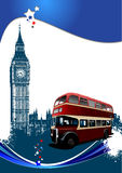Cover for brochure with London images Royalty Free Stock Photography