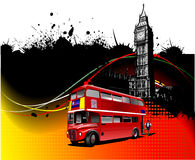 Cover for brochure with London images Stock Images