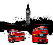 Cover for brochure with London images Royalty Free Stock Photos