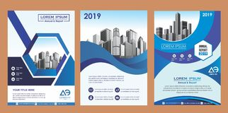 Cover, layout, brochure, magazine, catalog, flyer for company or report. Cover brochure magazine catalog flyer stock illustration