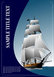 Cover for brochure with old sailing vessel Royalty Free Stock Photos