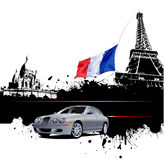 Cover for brochure with Paris image Stock Photography