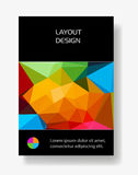 Cover Brochure Poster with polygon Stock Photos