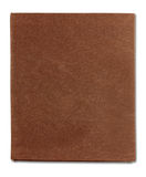 Cover of brown notebook isolated Royalty Free Stock Photography
