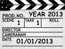 Cover Calendar 2013, Clapper board style Royalty Free Stock Photos