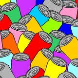 Cover cans Royalty Free Stock Photos