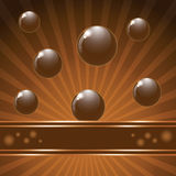 Cover chocolate sweets box background. Stock Images