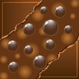 Cover chocolate sweets box illustration Stock Photography