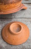 Cover clay pot Royalty Free Stock Image