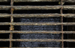 Cover closed Steel grating of Sewage pipe Stock Photo