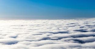 Cover of clouds seen from an aeroplane Royalty Free Stock Image