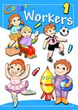 Cover - color workers 1. Digital illustration with the works. You can use it as the cover of a book to color whose sketches can find in my portfolio Stock Photo