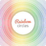 Cover with colored circles Royalty Free Stock Image