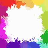 Cover with colorful watercolor blots Stock Photography