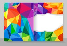 Cover copybook with triangle pattern, abstract background Royalty Free Stock Photography