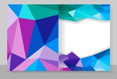 Cover copybook with triangle pattern, abstract background, geometric. Vector design stock illustration