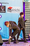 Cover Dance Performance by Divinity Party cover 2PM in Japan Festa in Bangkok 2013. Royalty Free Stock Photography