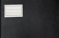 Cover of an dark old note book. Cover of an old note book. Closeup, great for old school design stock image