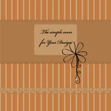 Cover design. In brown tones Stock Images