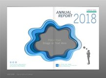 Cover design annual report, Blank space for your image. Or text, Use for your design all media, Easy to use and edit by add your own logo, images, and text stock illustration