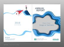 Cover design annual report, Blank space for your image or text, Use for your design all media. Cover design annual report, Blank space for your image or text royalty free illustration