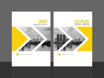 Cover design template annual report and catalog. Cover design for annual report and business catalog, magazine, flyer or booklet. Brochure template layout. A4 Stock Images