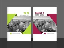 Cover design annual report and catalog royalty free illustration