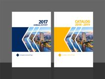 Cover design annual report and catalog. Cover design for annual report and business catalog, magazine, flyer or booklet. Brochure template layout. A4 cover royalty free illustration