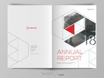 Cover design annual report, flyer, brochure. Royalty Free Stock Images