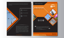 Cover design annual report, vector template of brochures, flyers Royalty Free Stock Images