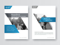 Cover design annual report,vector template brochures. Flyers, presentations, leaflet, magazine a4 size. White with blue abstract background Royalty Free Stock Photography
