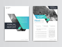 Cover design annual report,vector template brochures. Flyers, presentations, leaflet, magazine a4 size. White with blue abstract background Royalty Free Stock Photos