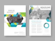 Cover design annual report Stock Photos