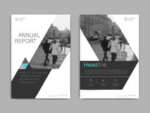 Cover design annual report,vector template brochures. Flyers, presentations, leaflet, magazine a4 size. White with gray abstract background Stock Photography