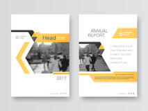 Cover design annual report,vector template brochures Stock Photography