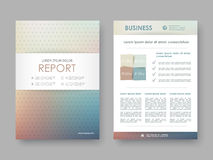 Cover design annual report Stock Photography