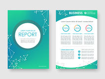 Cover design annual report Royalty Free Stock Images