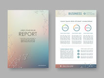 Cover design annual report Royalty Free Stock Photos