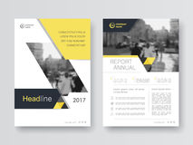 Cover design annual report,vector template brochures Royalty Free Stock Photo