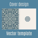 Cover design with arabic pattern Royalty Free Stock Images