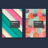 Cover design for brochure,booklet,flyer etc.. Geometric poster. A5 format template. Vector illustration Stock Images