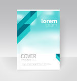 Cover design. Brochure, flyer, annual report cover template. a4 size. modern Geometric Abstract background. blue diagonal lines. blurred background vector stock illustration