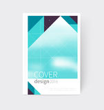Cover design. Brochure, flyer, annual report cover template. a4 size. modern Geometric Abstract background. sacred geometry triangles. blurred background stock illustration
